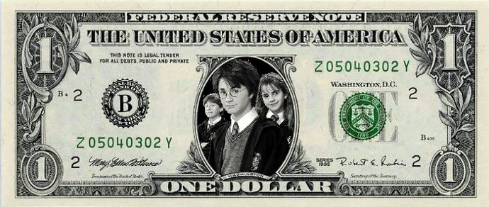 HARRY POTTER MILLION DOLLAR NOVELTY BILL