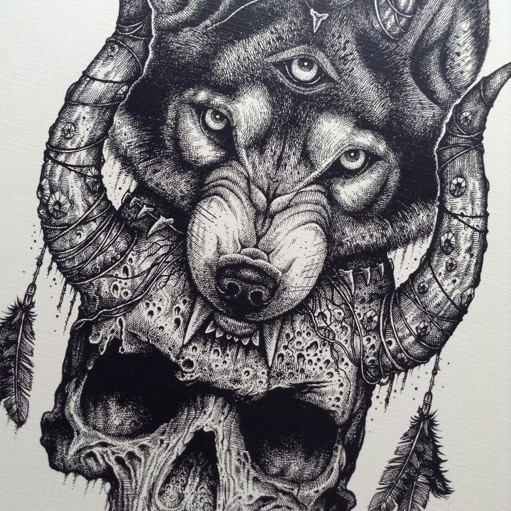 Image of Third Eye Wolf   nice   Third eye tattoos, Wolf