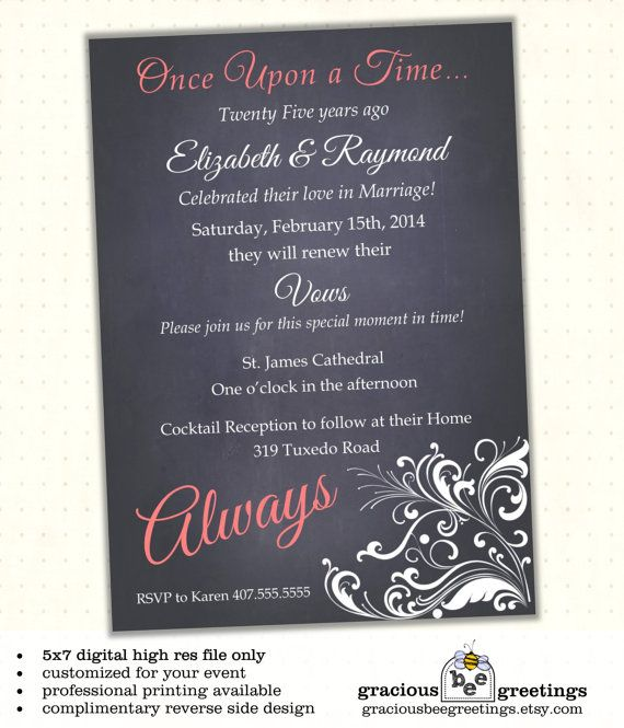 10th Wedding Anniversary Invitations: Always Vow Renewal Invitation, 10th Anniversary Invitation