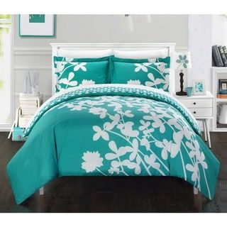8 Piece Debora Teal//Gold Reversible Comforter Set
