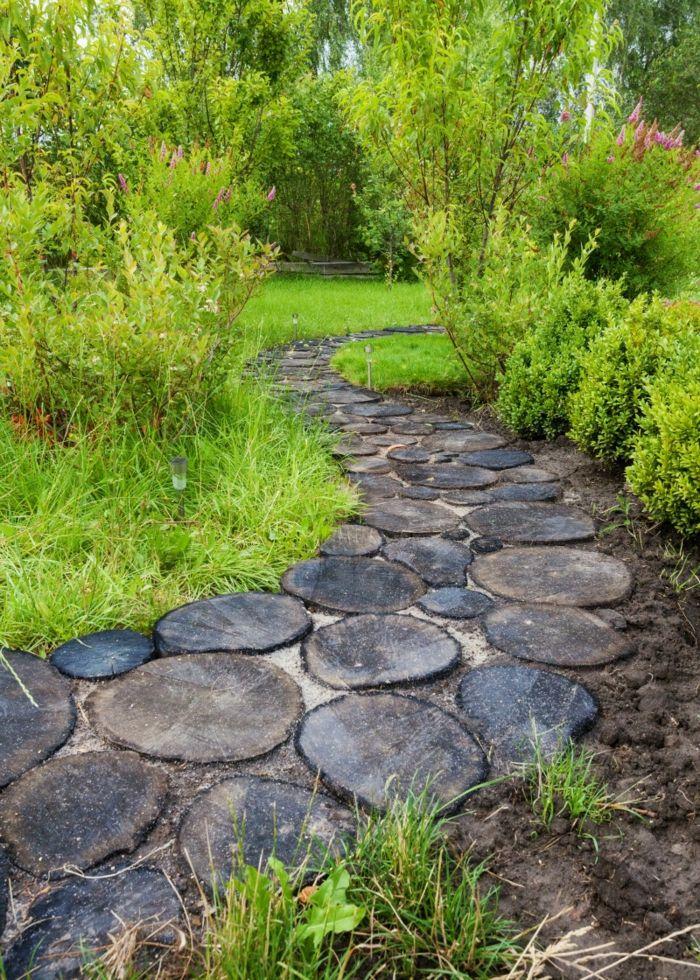 Moderne Gartengestaltung Mit Stein Garten Gestalten Vorgarten Gestalten Mit  Steinen Baumstamm