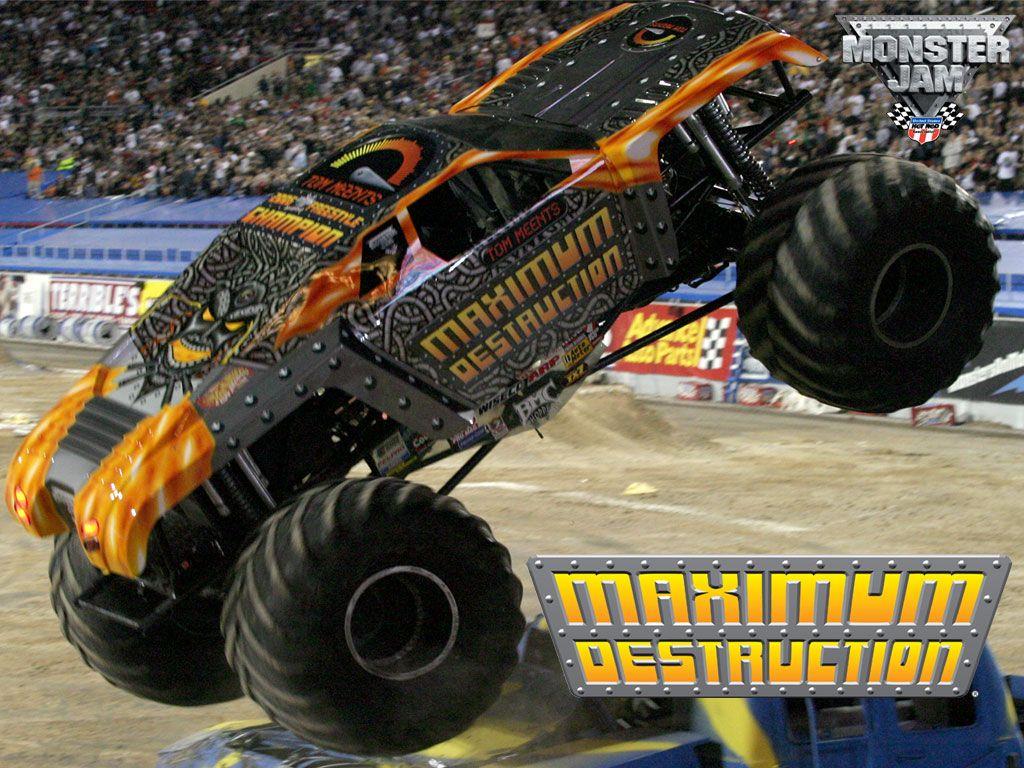 Maximum Destruction Monster Truck Bucket List Be In Monster Truck And Hit Jumps Monster Trucks Truck And Tractor Pull Monster Jam