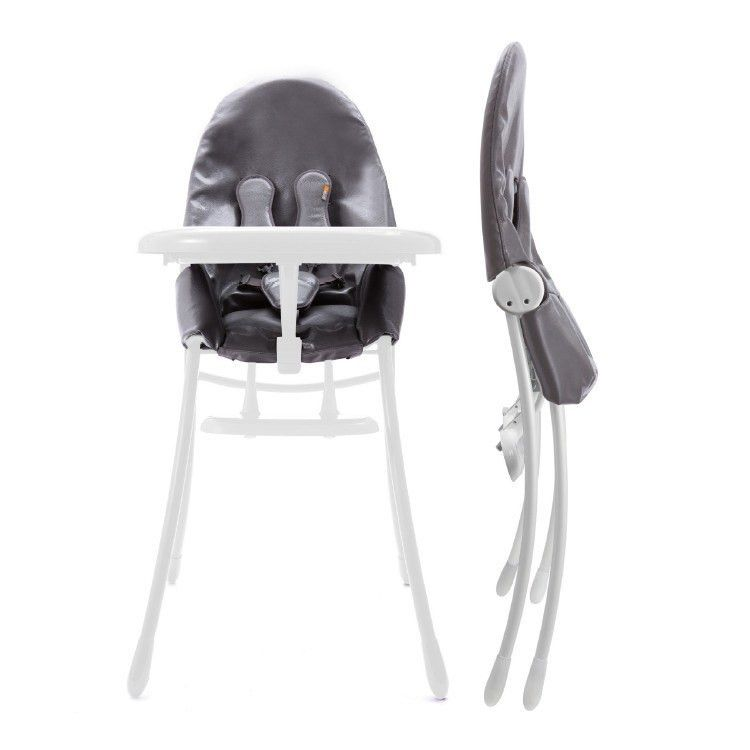 Matt White Snakeskin Grey Bloom Nano High Chair Small