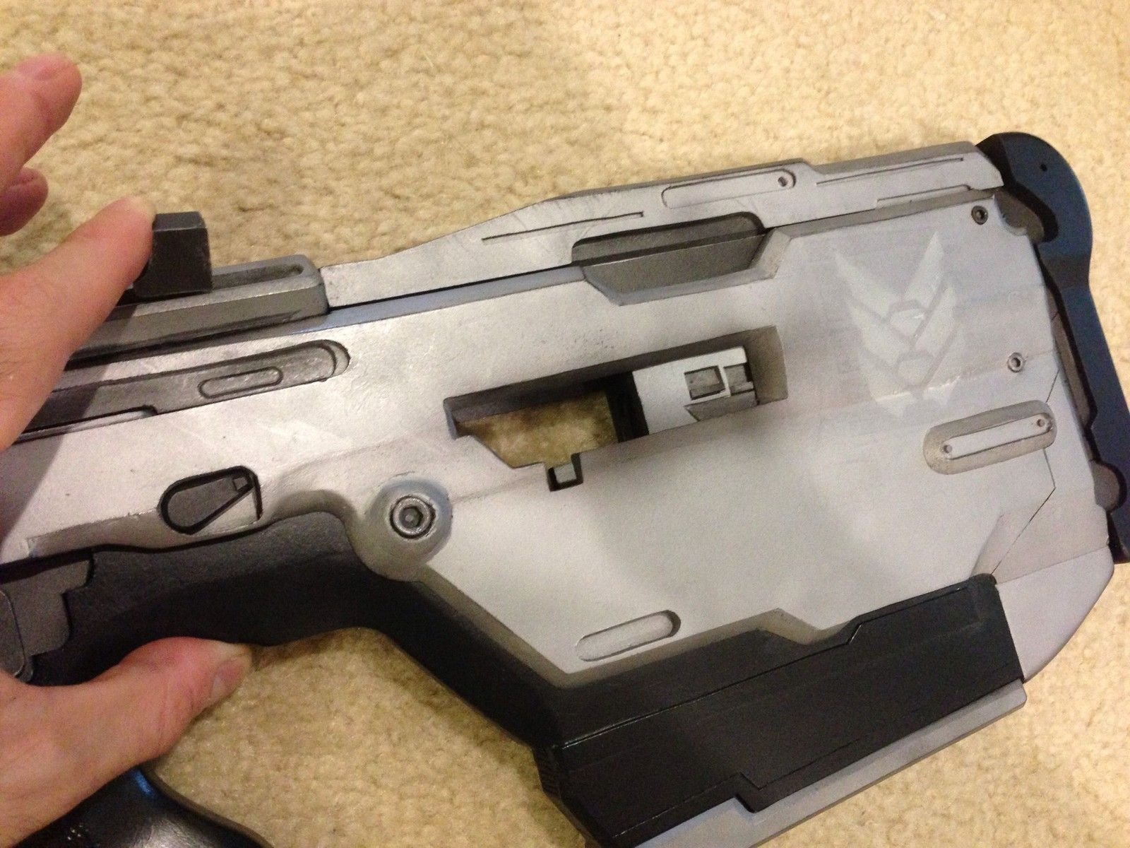 Red 5 vinyl system prop replicas custom fabrication special - Halo 4 Full Size Replica Br85hb Battle Rifle Professionally Built Model Prop Gun
