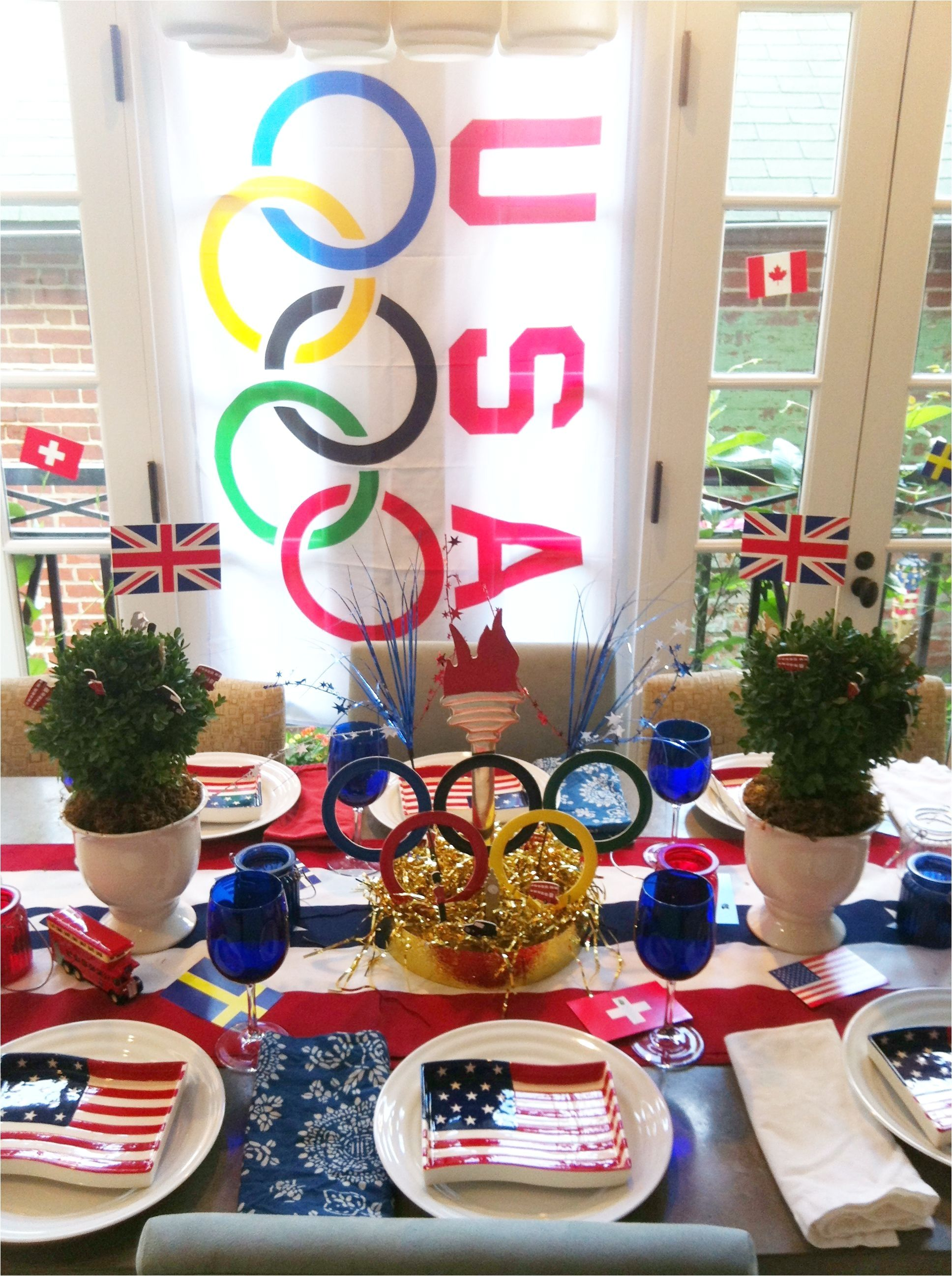 Olympic Themed Birthday Party Decorations