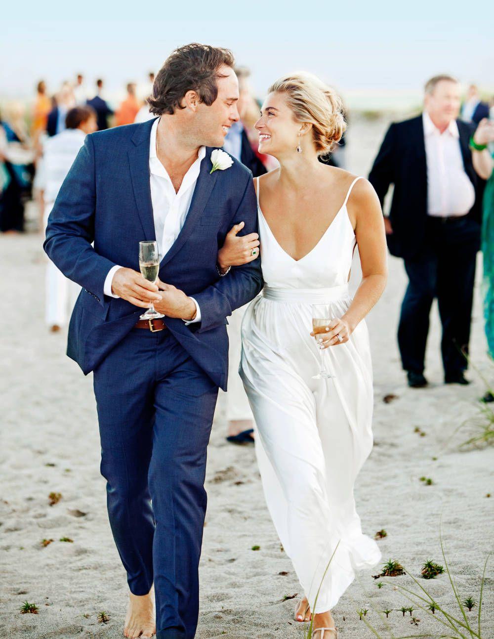 A Palm Beach Wedding Ivey Day And Bobby Leidy Casual Beach Wedding Dress Simple Wedding Dress Beach Groom Wedding Attire
