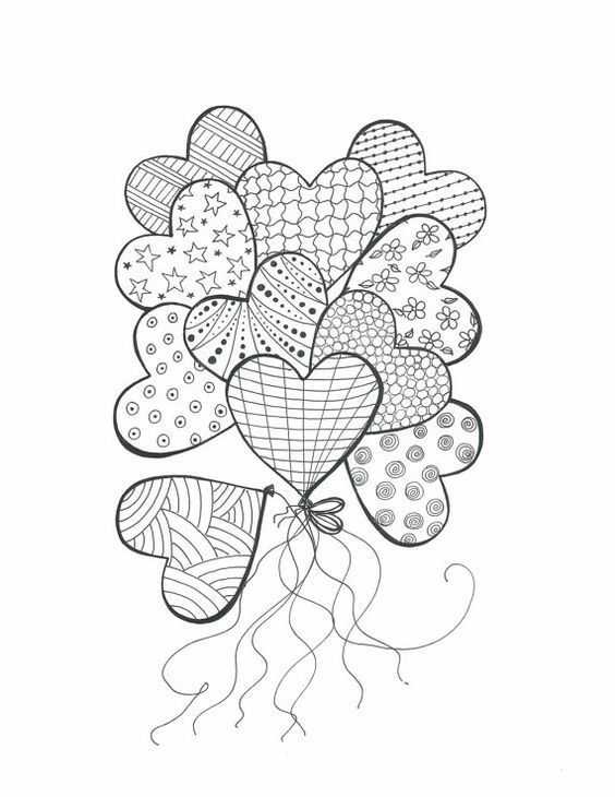 Image Result For Easy To Draw Heart Doodles Heart Coloring Pages Coloring Books Coloring Pages