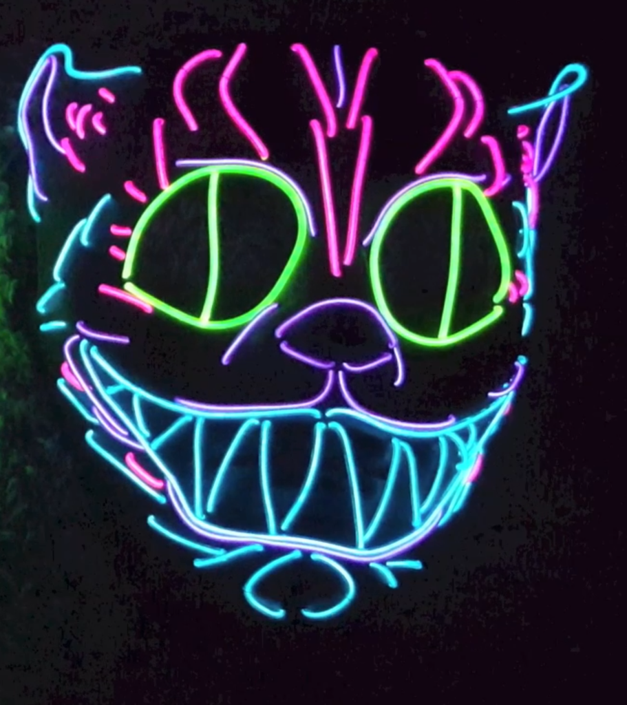 Cheshire Cat Glow Mask Glow Mask Mask Rave Mask