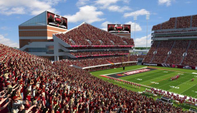 Gocards Com Official Website Of University Of Louisville Athletics Louisville Football Football Stadiums University Of Louisville