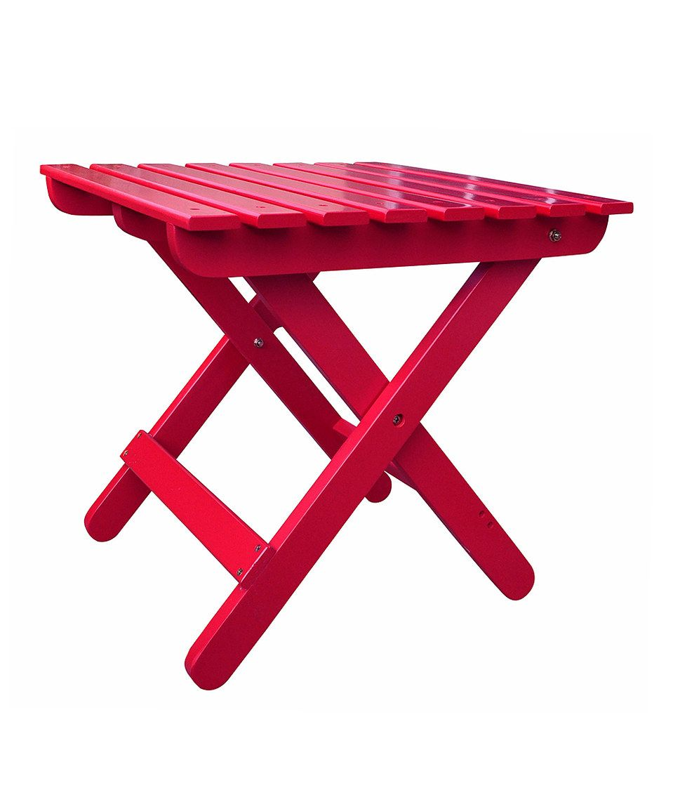 Another great find on #zulily! Tomato Red Adirondack Folding Table by Shine Company Inc. #zulilyfinds
