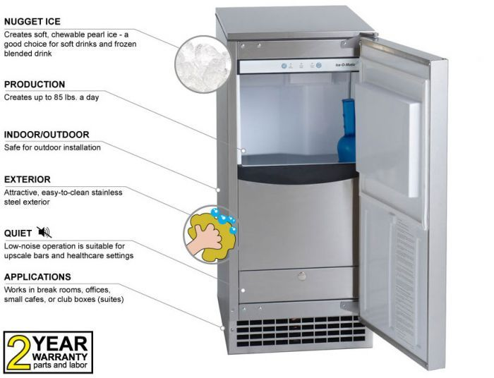 Scotsman Cu50pa Product Details The Scotsman Cu50pa Is An Undercounter Gourmet Cube Ice Maker Offered By S Ice Machine Stainless Steel Cleaning Pearl Ice Maker