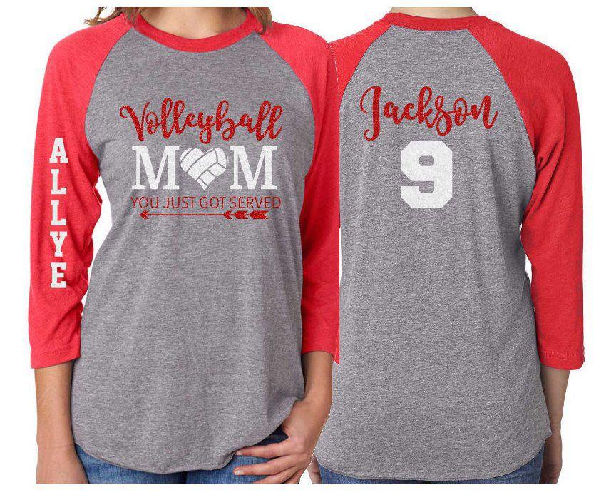 Glitter Volleyball Shirt Volleyball Mom You Just Got Served Etsy Volleyball Mom Shirts Volleyball Shirt Designs Volleyball Mom Shirts Design