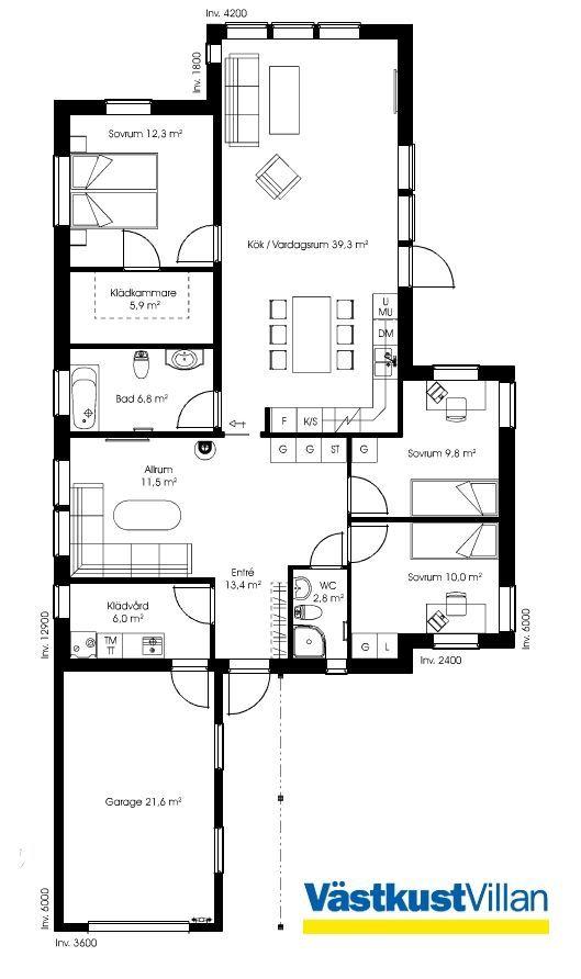 Schwedenhaus eingeschossig skandihaus 123 grundriss haus for Minimalistisches haus grundriss