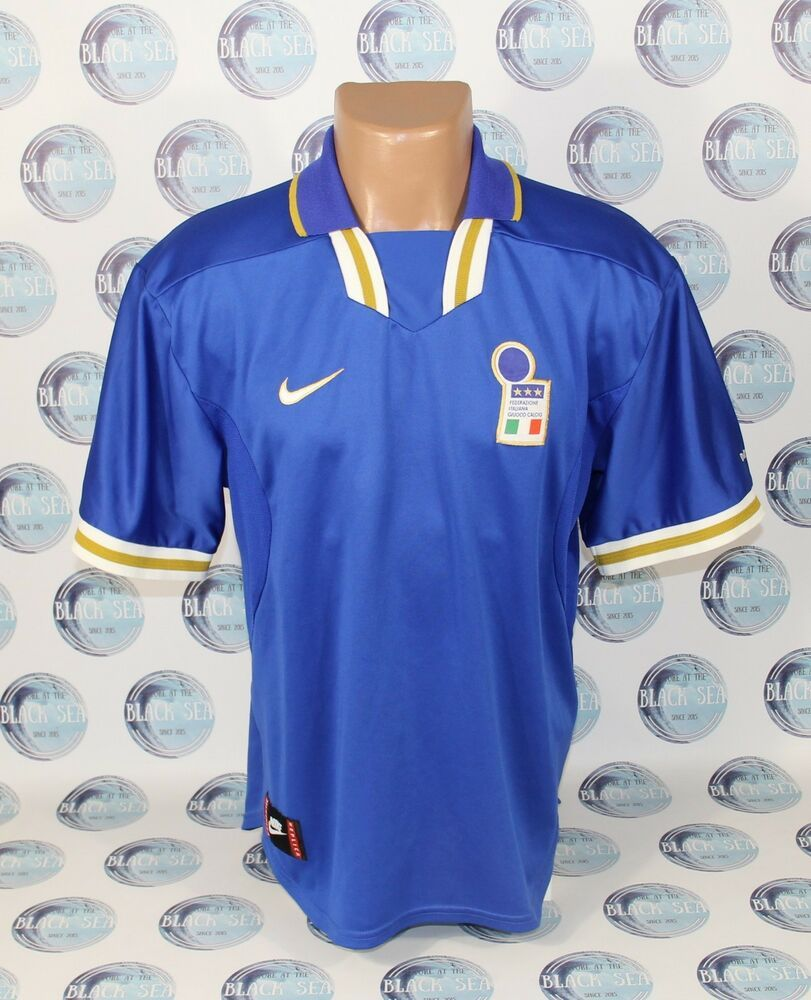 low priced a927b bedfa ITALY NATIONAL TEAM 1996 1997 HOME FOOTBALL SOCCER SHIRT ...