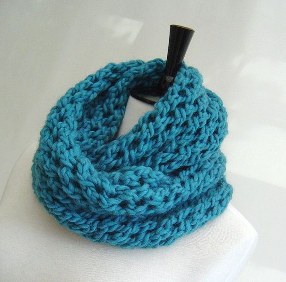 Cowl Infinity Scarf Knitting Pattern For Beginners Pdf Digital