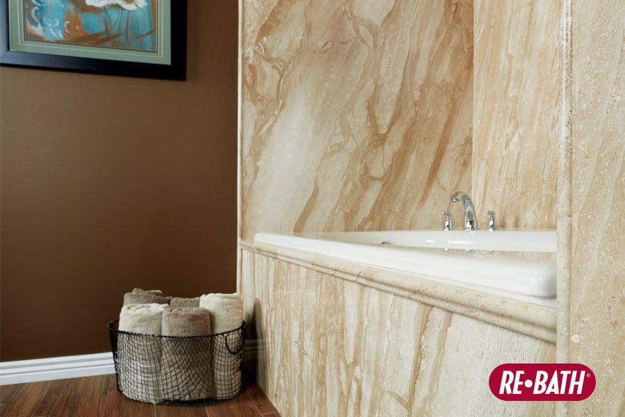French Mocha Durabath Natural Stone Rebath Bathroom Remodeling