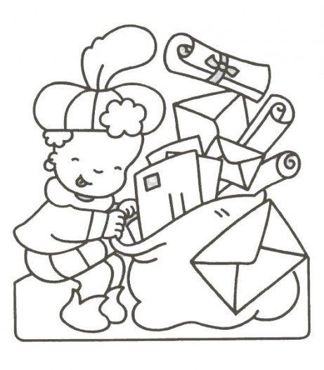 courrier père fouettard | Sinterklaas, Knutselen sinterklaas