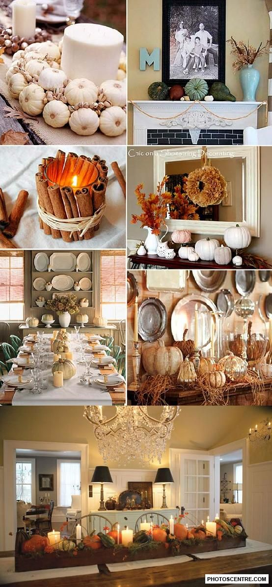 Thanksgiving home decor - 9 PHOTO! Halloween Pinterest