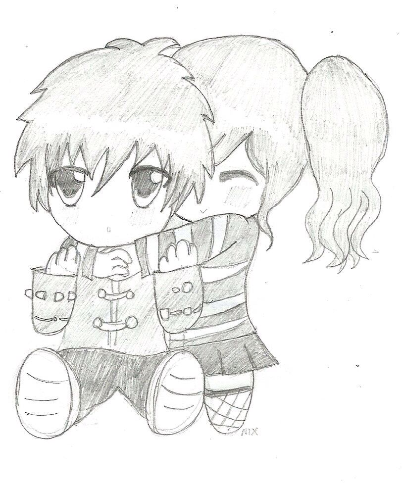 Pencil Emo drawing Cartoon drawings, Emo couples, Drawings