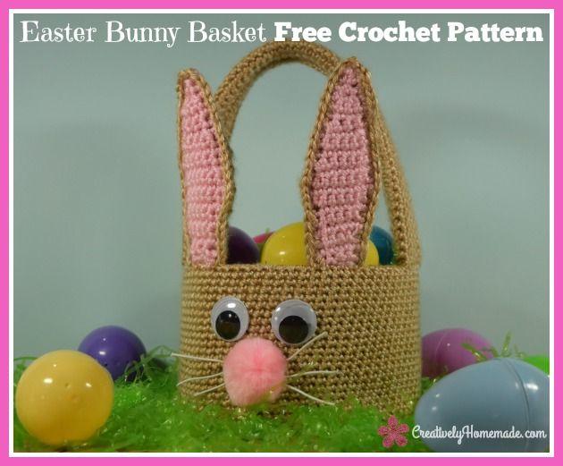 Easter Bunny Basket Crochet Pattern For Boys Or Girls Instant Pdf