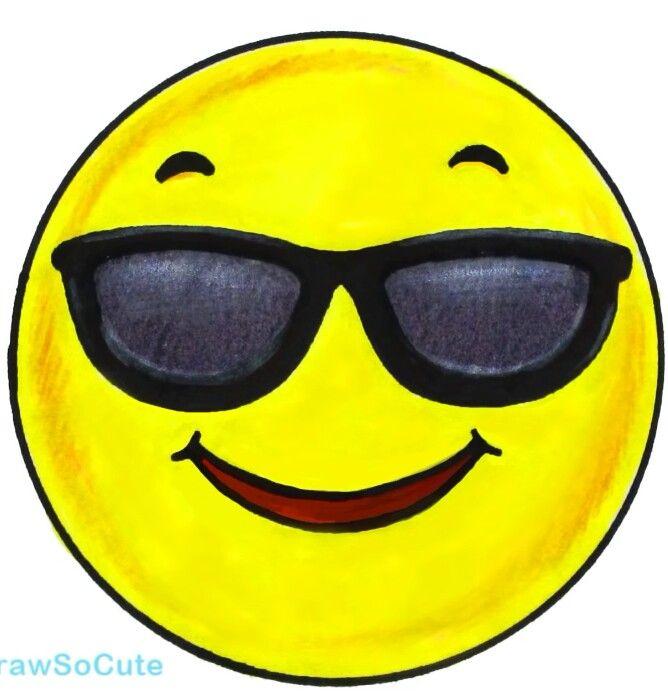 Emoji W Sunglasses Art Pinterest