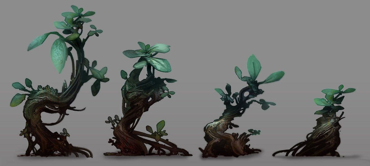 Halo 4 plants, David Bolton on ArtStation at https://www.artstation.com/artwork/halo-4-plants