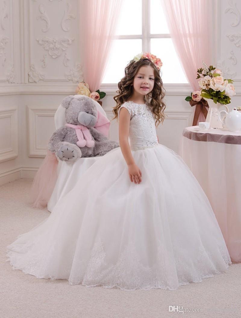 New Arrival Princess Puffy Toddler Ball Gown Abiti Da Comunione ...
