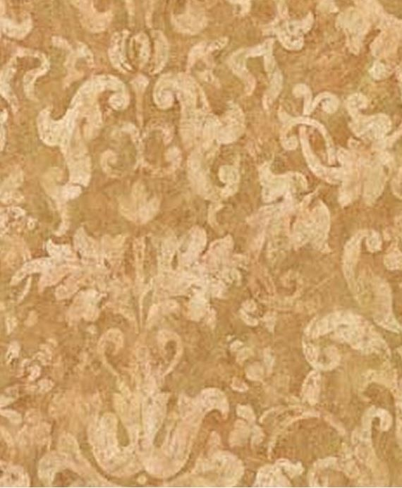 Wallpaper by the yard antiqued acanthus leaf scroll for Cream wallpaper for walls