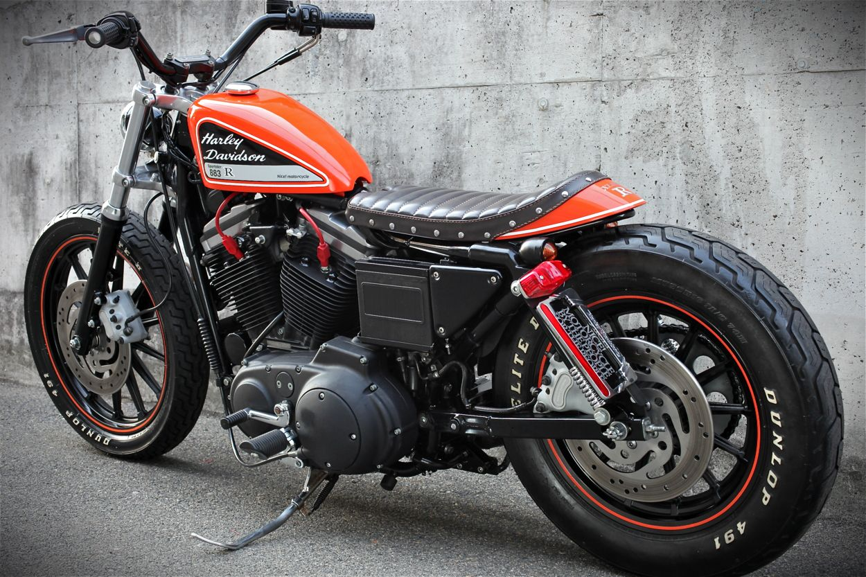 Cafe Racers Scramblers Street Trackers Vintage Bikes And Much More The Best Garage For Special Motorc Sportster Scrambler Harley Scrambler Harley Dirt Bike