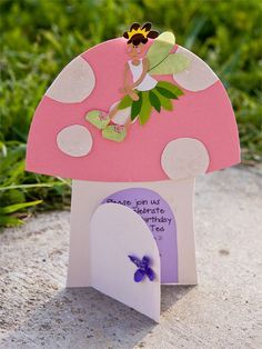 Fairy birthday invitation, made with cardstock - fairy by @Jacque Larsen
