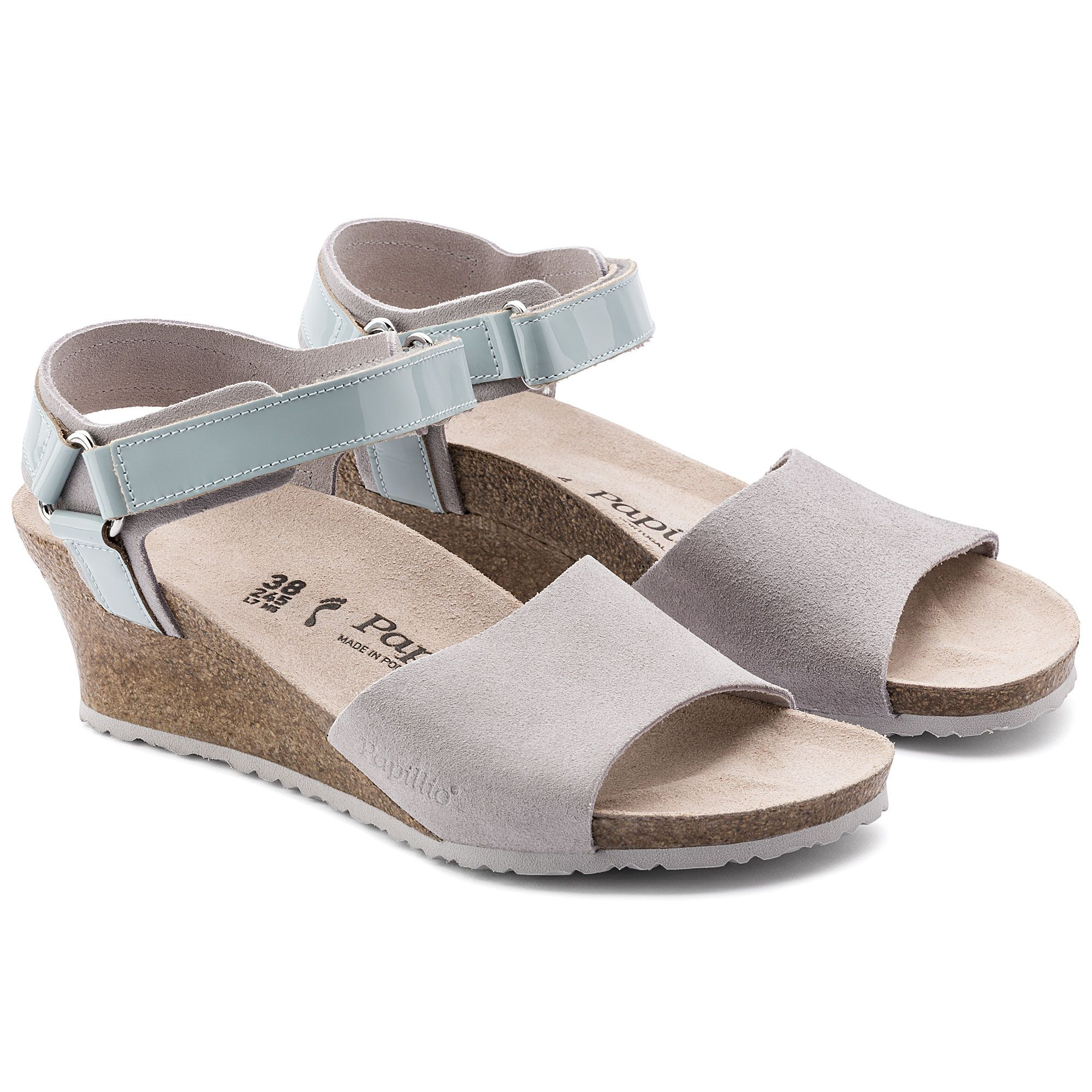 488a50c64c3 Eve Suede Leather PVC Gray