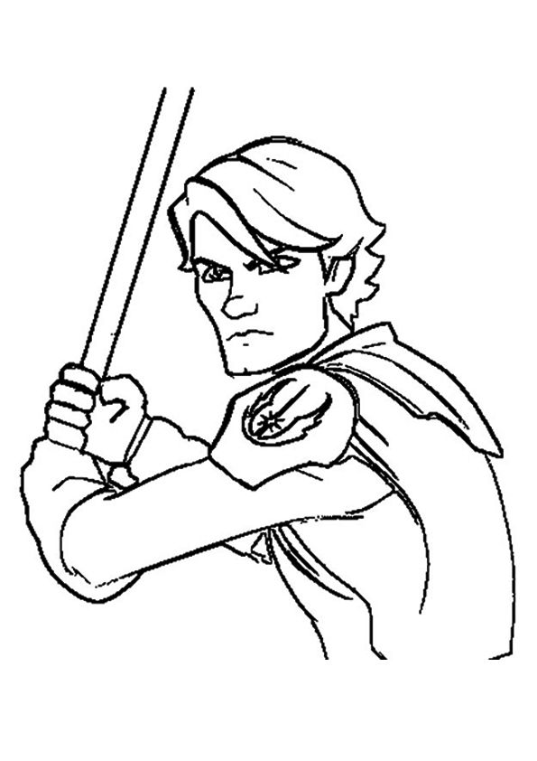 The Anakin Skywalker A4 Jpg 595 842 Star Wars Coloring Book Star Wars Coloring Sheet Star Coloring Pages