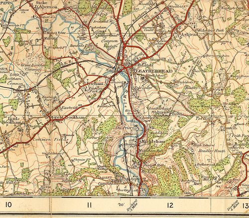Beautiful Old Map Pinterest Leatherhead FC And Surrey - Old os maps