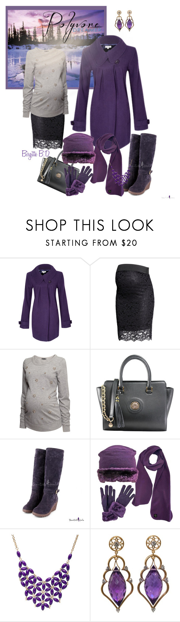 """""""My Purple Advent 2015"""" by ragnhild-bergan ❤ liked on Polyvore featuring H&M and Alexa Starr"""
