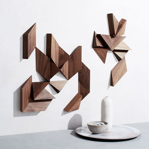 mākgoods Modular Wall Art  24 Piece is part of Modern Home Accents Wall Art - Chad and Sterling, founders of mākgoods, created these modular wall art pieces as an easytouse way to introduce DIY projects into homes  Inspired by minimal, geometric designs, each art kit is based on a grid, making them easily mountable in…