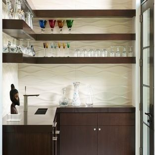 Wet Bar With Floating Shelves Design Ideas Pictures Remodel And