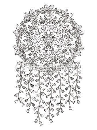 Página para colorear de flores atractivas — Vector de stock | J ...