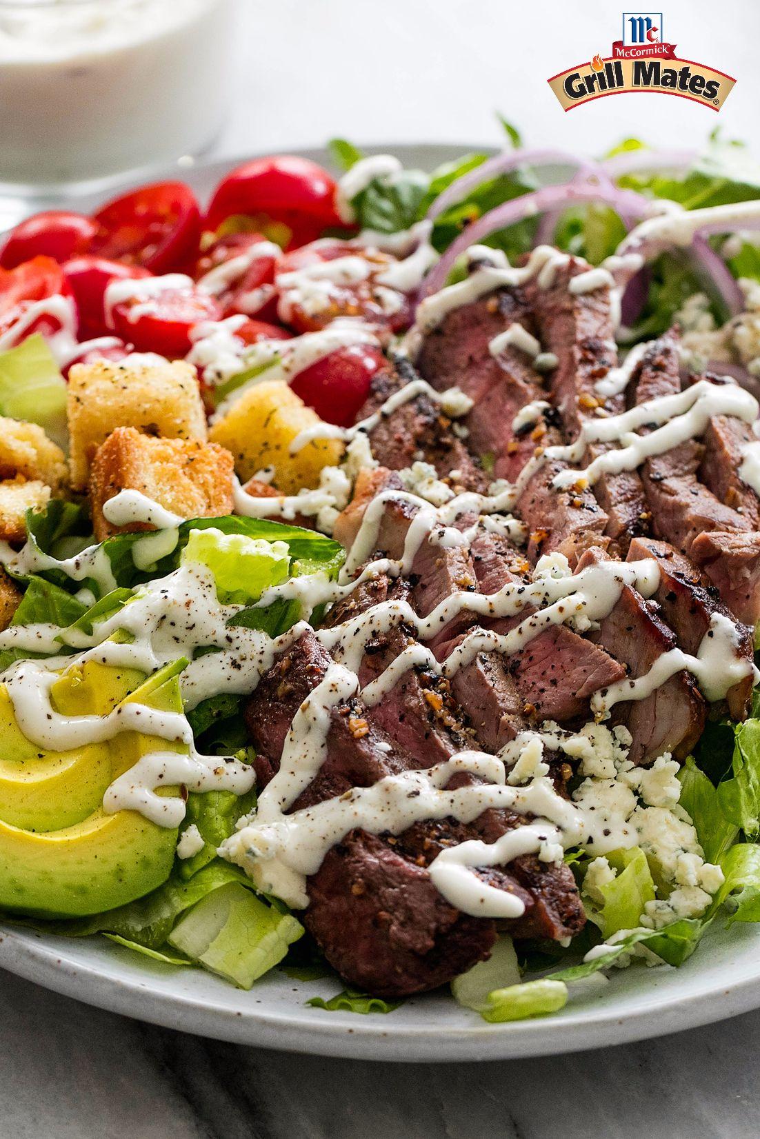 Black N Blue Grilled Steak Salad Recipe Steak Salad Recipe Grilled Steak Salad Steak Salad