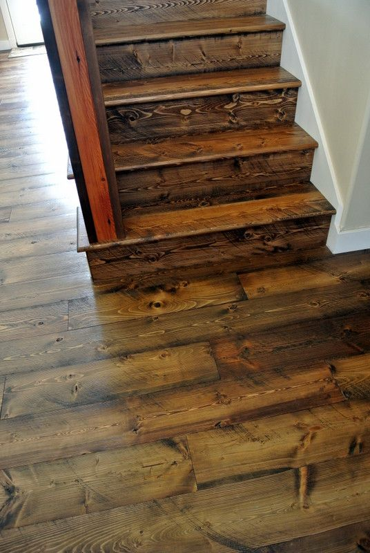 Matching Stair Treads And Risers Available With All Our Douglas Fir  Flooring Collections. Pictured Here