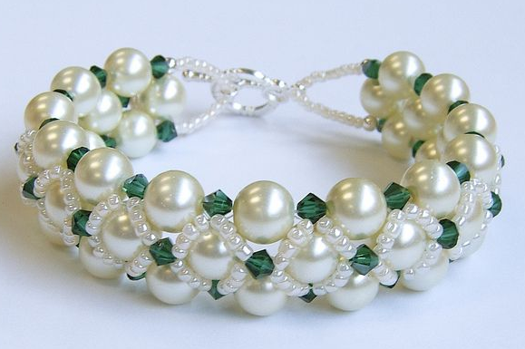 Woven Pearl Bracelet Bracelets Beaded Jewelry