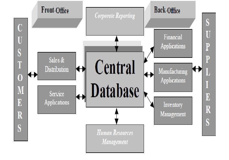 BASIC ERP SYSTEMS MODEL - This sample graphic illustrates the ...