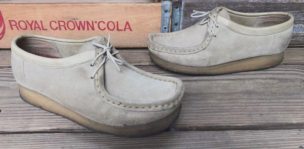 CLARKS ORIGINALS Wallabees Sand Tan Suede Leather Oxfords Shoes Women's 6M # ClarksOriginals #Oxfords #