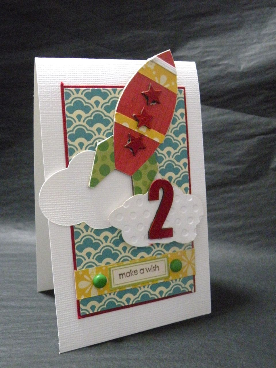 make a wish on a rocket  Old birthday cards, Birthday cards for