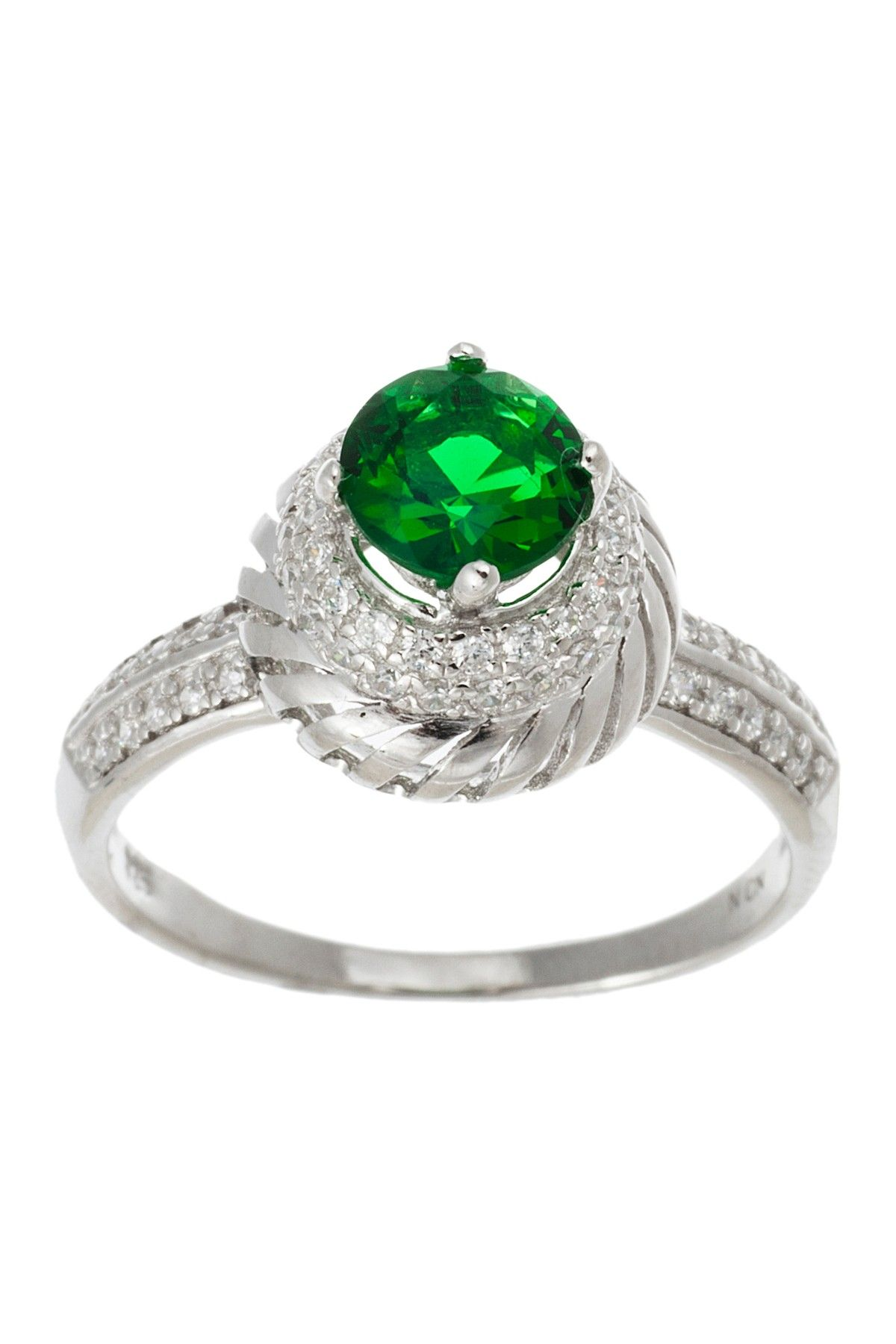Sterling Silver CZ Round Ring