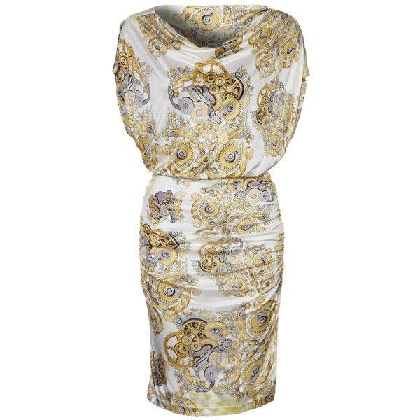 Versace Collection Cocktailkleid festliches Kleid weiß/gold ($470 ...