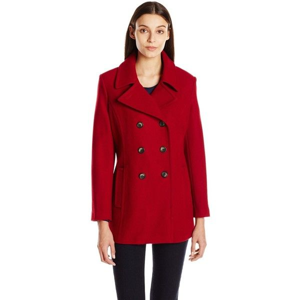 Womens Double Ted Peacoat, Tommy Hilfiger Peacoat Women S