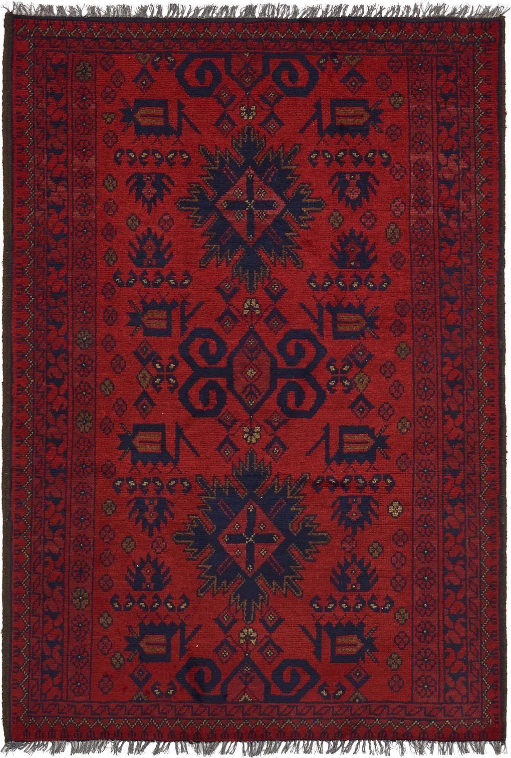 Red 3 4 X 4 9 Khal Mohammadi Oriental Rug