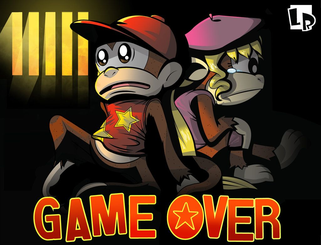 Donkey Kong Country 2 - Game Over by TheLazyRipp | Fan Art ...