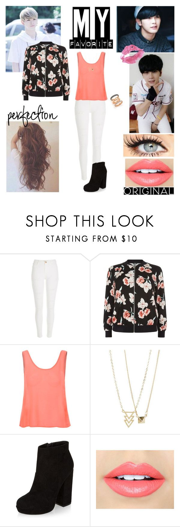 """""""Senza titolo #1170"""" by meddy21 ❤ liked on Polyvore featuring River Island, New Look, Glamorous, Fiebiger and Michael Kors"""