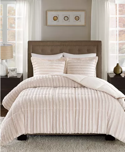 Madison Park Duke Reversible 3 Pc Full Queen Comforter Set Reviews Bed In A Bag Bed Bath Macy S Comforter Sets Queen Comforter Sets Comforters